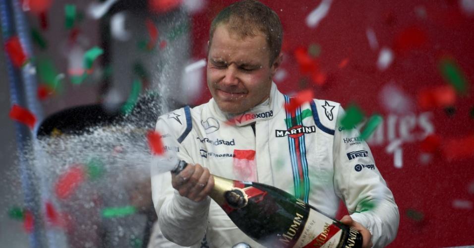 Valtteri Bottas no pódio do GP do México
