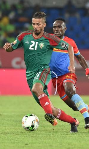 Mehdi Carcela-Gonzalez, da seleção do Marrocos, na Copa Africana de Nações 2017