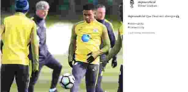 Gabriel Jesus comemora retorno ao Manchester City - Reprodução - Reprodução