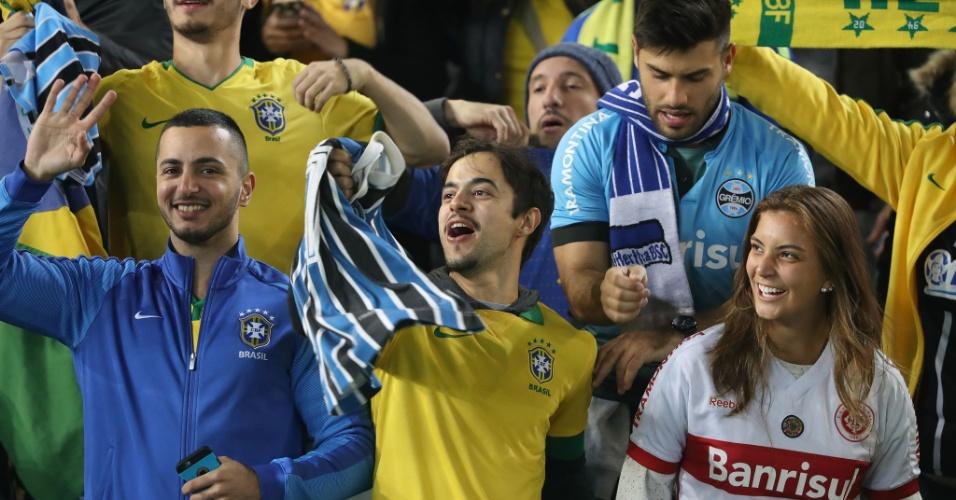 Torcida da seleção brasileira antes do amistoso contra a Argentina