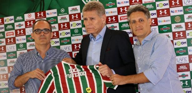 Abad, Autuori e Fabiano Camargo: parte da cúpula de futebol do Flu