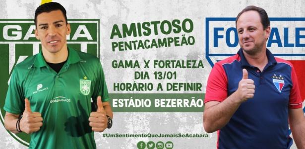 Amistoso entre Gama e Fortaleza marca estreias de Lúcio e Rogério Ceni