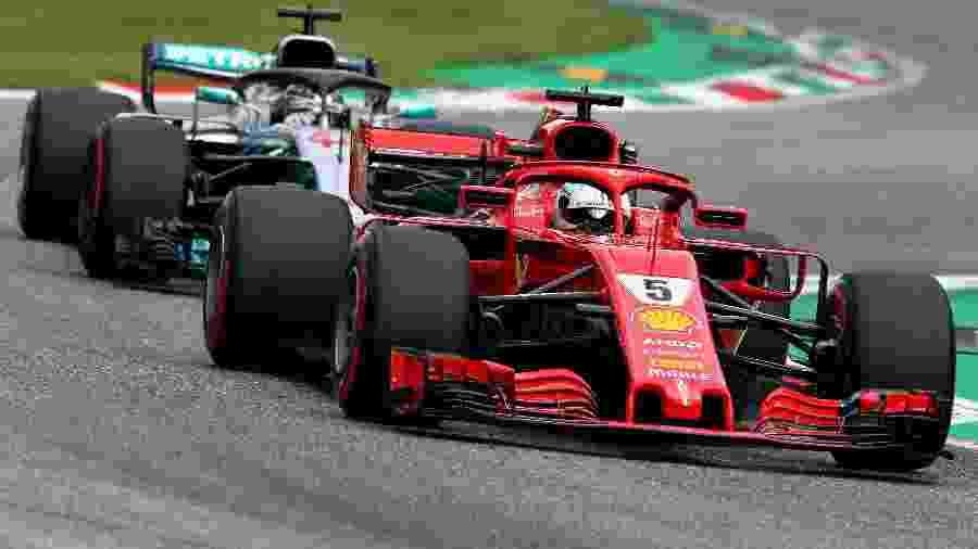 Sebastian Vettel Lewis Hamilton Mercedes Ferrari Monza - Charles Coates/Getty Images