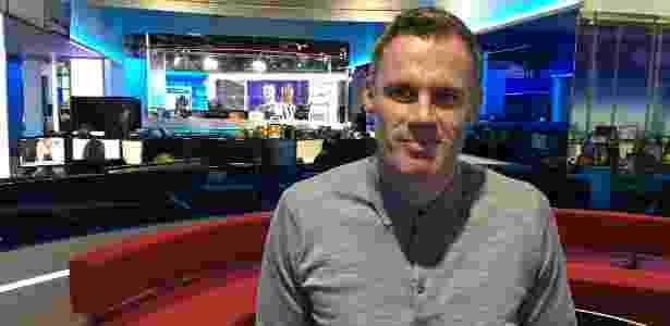 Jamie Carragher no estúdios da Sky Sports, em Londres - Caio Carrieri/Colaboração para o UOL