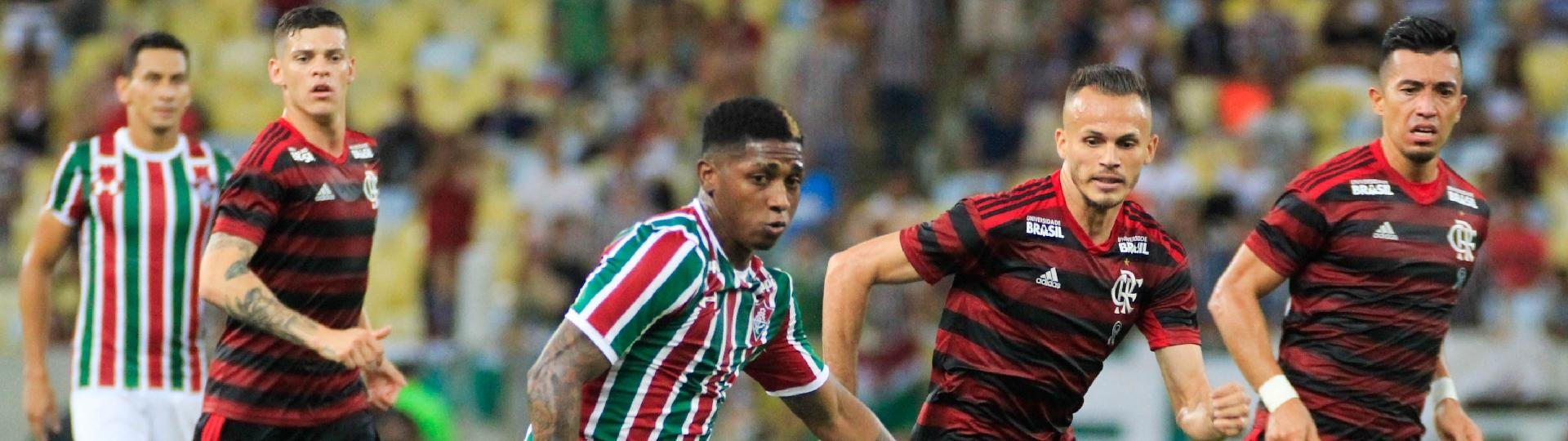 Yony Gonzalez do Fluminense durante partida contra o Flamengo pelo Campeonato Carioca