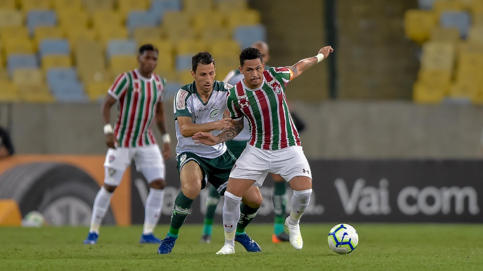 Luciano, do Fluminense, durante partida contra o Luverdense pela Copa do Brasil 2019