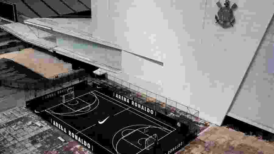 Ontem, Corinthians e Nike inauguraram quadra poliesportiva atrás do prédio Norte da Arena - Divulgação