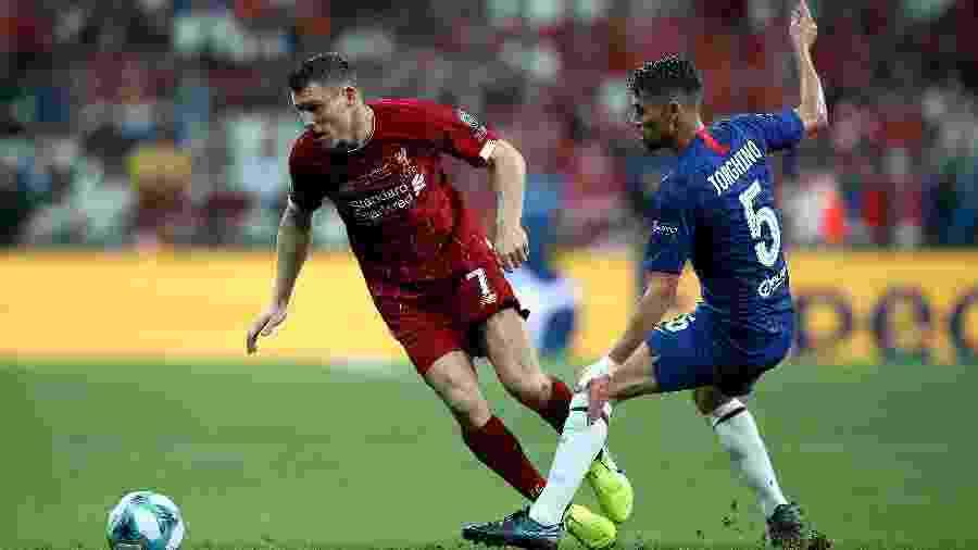 Nome do meio-campista Jorginho escrito errado na camisa do Chelsea - Nick Potts/Getty Images
