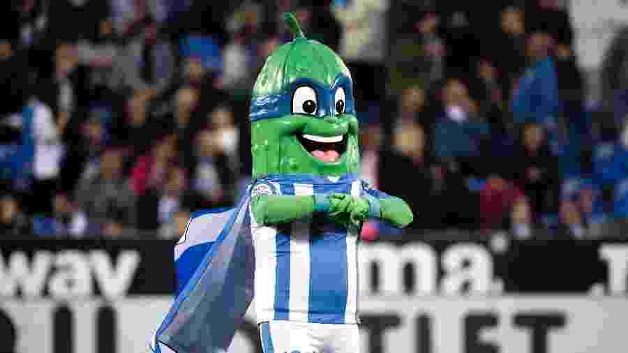 Super Pepino, mascote do Leganés, da primeira divisão espanhola - David S. Bustamante/Soccrates/Getty Images