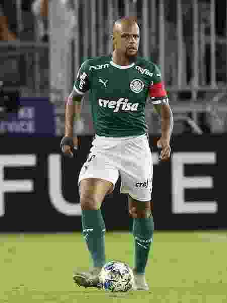 Felipe Melo jogou como zagueiro no primeiro tempo de Palmeiras x Atlético Nacional - Cesar Greco/Ag. Palmeiras