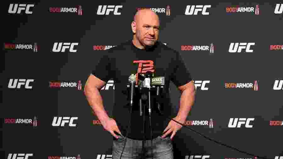 Dana White, presidente do UFC, durante a pesagem do UFC 249 - Mike Roach/Zuffa LLC