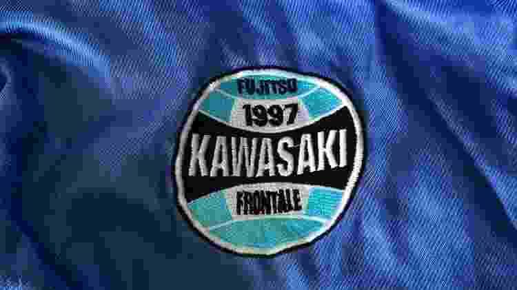 Escudo de time japonês foi desenhado inspirado no Grêmio e como parte do contrato assinado em 1996 - Arquivo pessoal - Arquivo pessoal