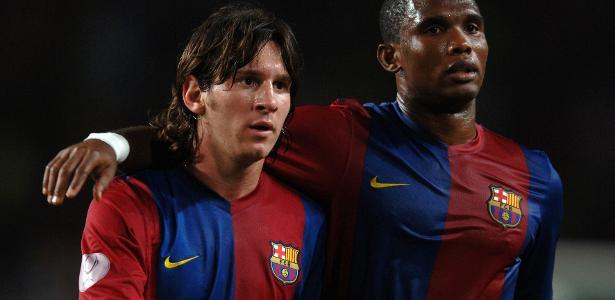 'Quando você tem um Deus, basta admirá-lo', diz Eto'o sobre Messi