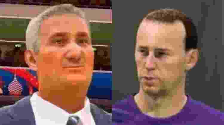 """Tite e o jogador francês Franck Ribéry também tiveram versões deformadas em jogos """"Fifa"""" - Reprodução - Reprodução"""