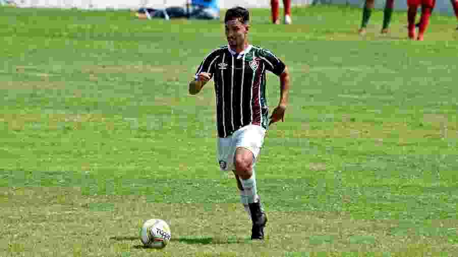 """Jovem volante Martinelli, de 19 anos, é visto como uma promessa no Fluminense e tem fama de """"pé quente"""" - Mailson Santana/Fluminense FC"""