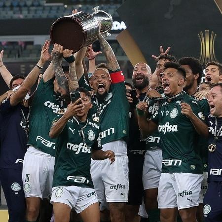 Jogadores do Palmeiras comemoram a conquista da Copa Libertadores 2020 - Cesar Greco