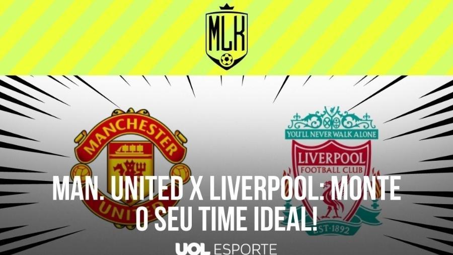 Manchester United e Liverpool se enfrentem em jogo atrasado da 34ª rodada do Campeonato Inglês - Arte/UOL