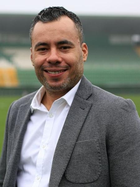 Jair Ventura, durante anúncio na Chapecoense - Márcio Cunha/ACF