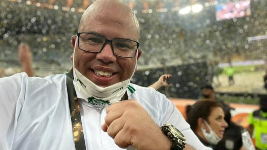O segurança Cristiano Oliveira teve a morte confirmada na noite deste sábado - Divulgação/Sociedade Esportiva Palmeiras