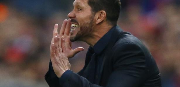 Simeone conduziu o Atlético de Madri a uma vitória por 1 a 0 no jogo de ida