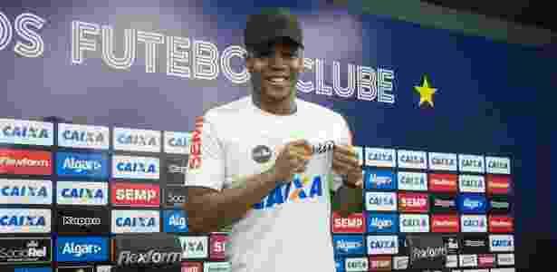 Matheus Jesus chegou ao Santos no dia 15 de julho, mas não estreou ainda - Ivan Storti/Santos FC
