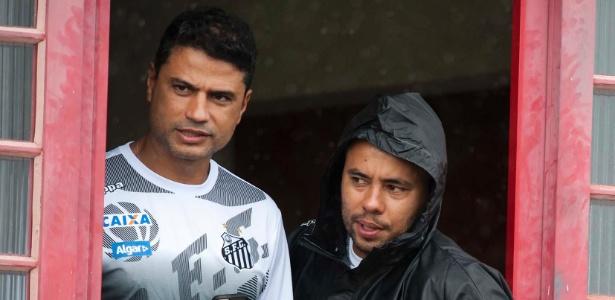 Gerente de futebol do Santos, William Machado, e técnico do time, Jair Ventura