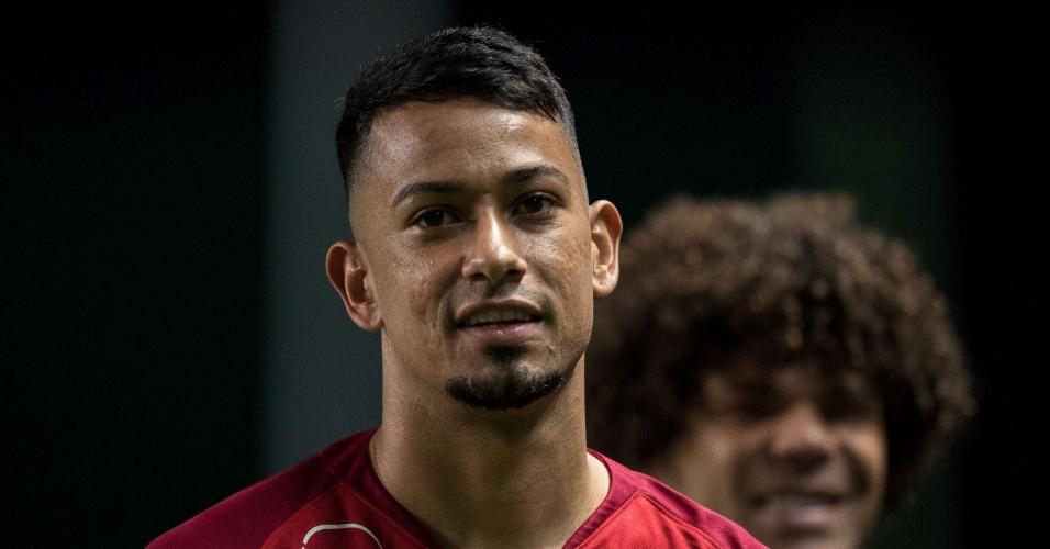 Lucca, do Internacional, durante a partida contra o Atlético-MG