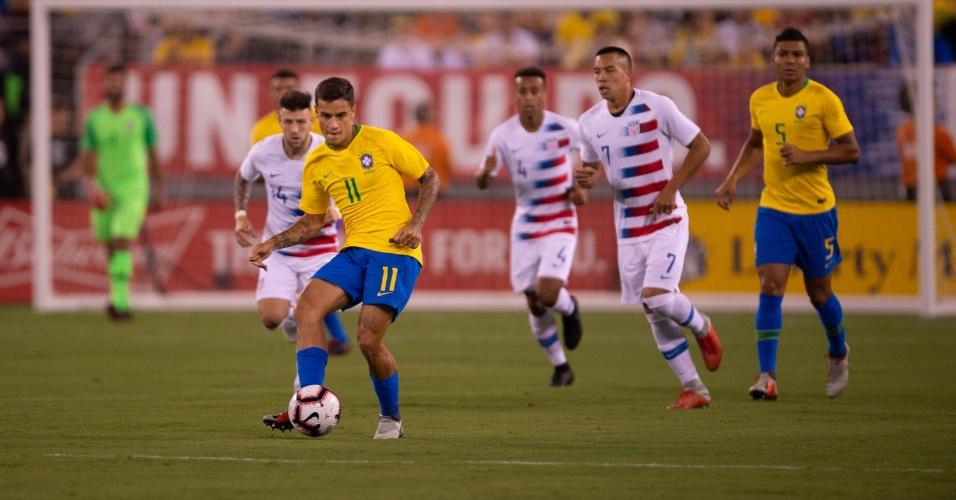 Philippe Coutinho manteve a titularidade no jogo contra os Estados Unidos