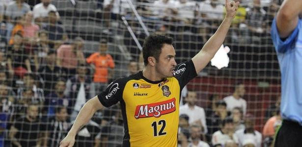 cd7e19d888 Falcão comemora gol durante partida entre Magnus e Corinthians