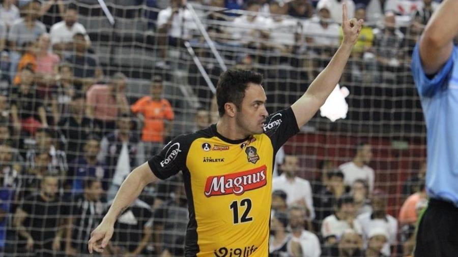 Falcão comemora gol durante partida entre Magnus e Corinthians - Divulgação/Magnus