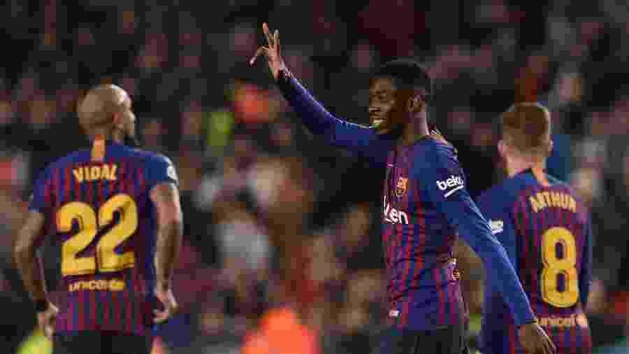 Dembélé não teria agradado diretoria do Barcelona com histórico de lesões - Josep LAGO / AFP