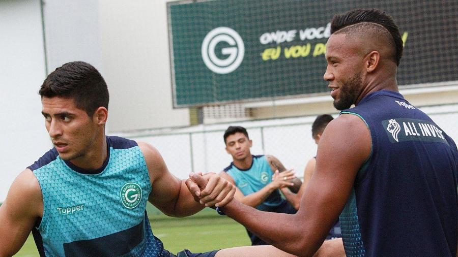 Daniel Guedes (esq.) defende o Goiás desde março desse ano, emprestado pelo Santos - Divulgação/Goiás Esporte Clube