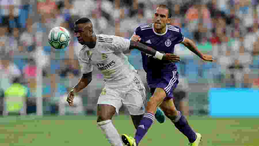 Vinicius Junior durante jogo do Real Madrid contra o Valladolid - REUTERS/Juan Medina