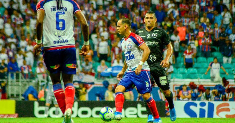 Guerra, durante partida entre Bahia e Botafogo