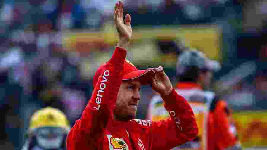 Sebastian Vettel no GP do México - Pedro Pardo/AFP