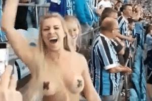 Torcedora do Grêmio   Jornalista deixa rádio após mulher admitir nudez para viralizar