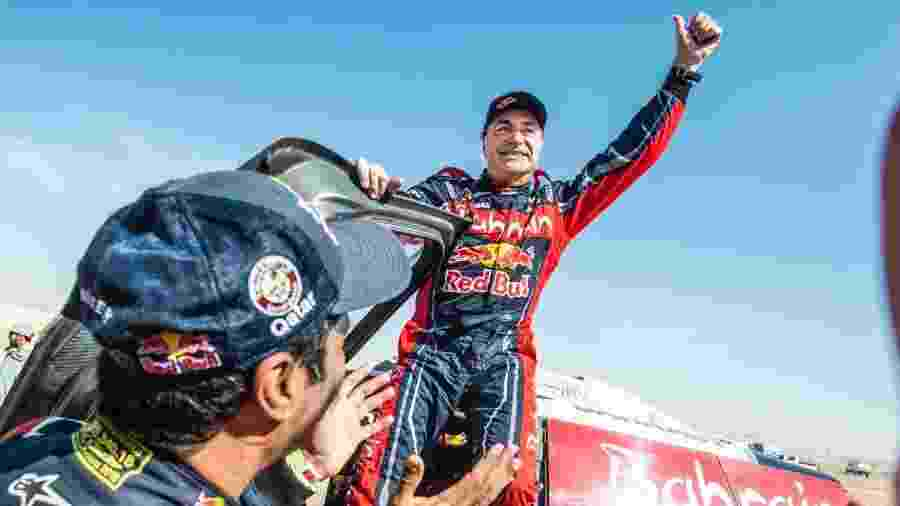 Carlos Sainz durante o Rally Dakar - Reprodução/Twitter
