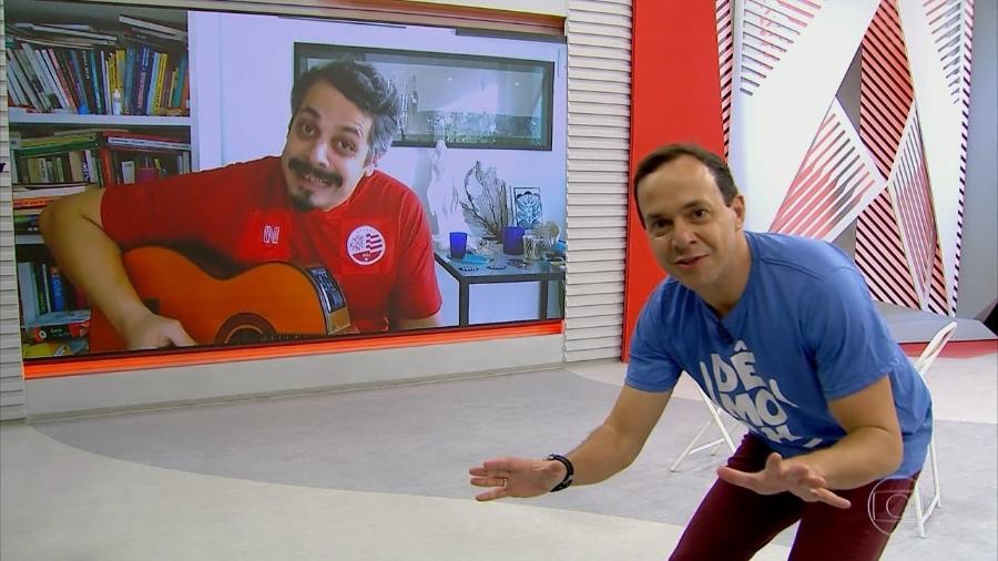 Tiago Medeiros, do Globo Esporte de Pernambuco - Reprodução