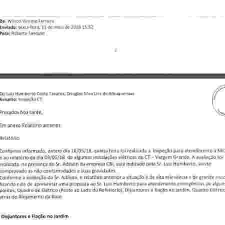 E-mail Flamengo Ninho 2018 - Reprodução - Reprodução