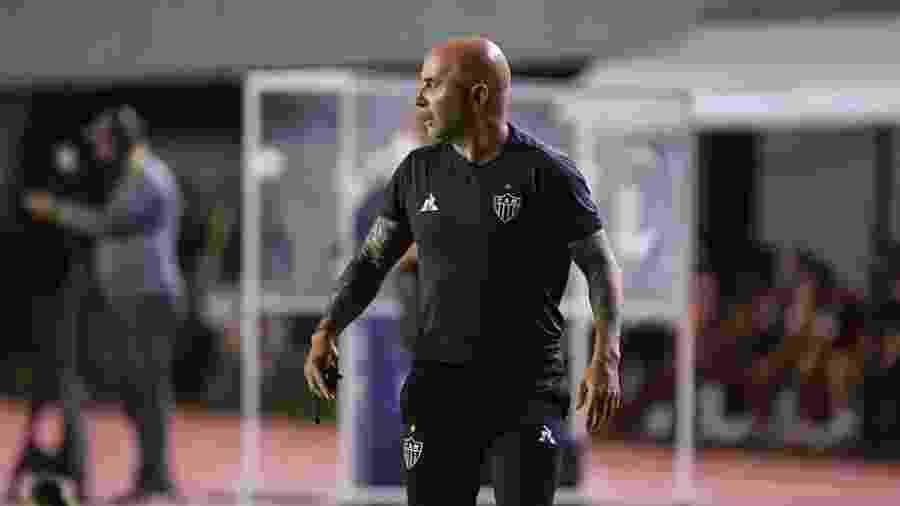 Sampaoli mostrou dificuldade em entender a derrota do Atlético-MG para o Bahia - Atlético-MG/Divulgação