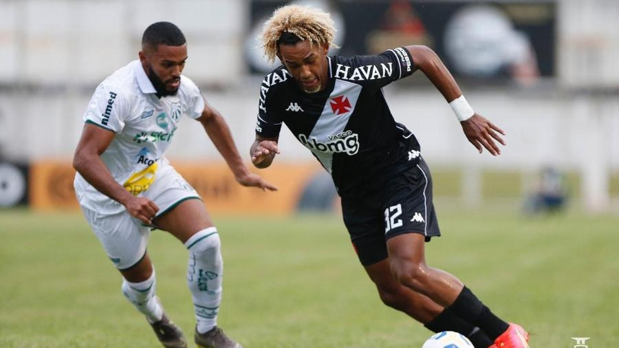 MT, meia do Vasco, em partida contra a Caldense, pela Copa do Brasil - Rafael Ribeiro/Vasco.com.br