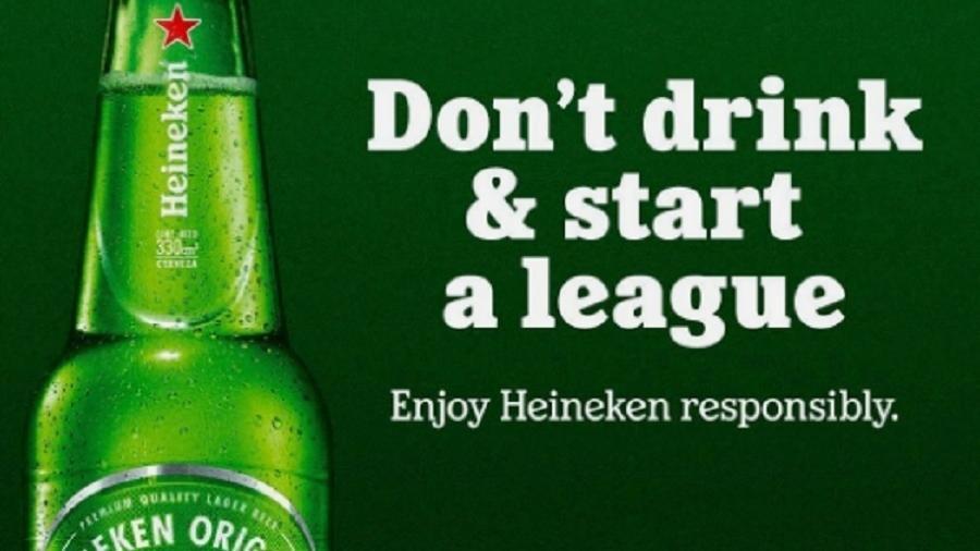 Patrocinadora da Liga dos Campeões, cervejaria alfinetou iniciativa em seu Instagram - Reprodução/Instagram
