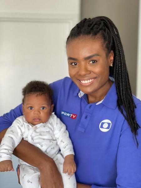 Fabizona ao lado de seu filho, Asaf.  - Reprodução/Twitter