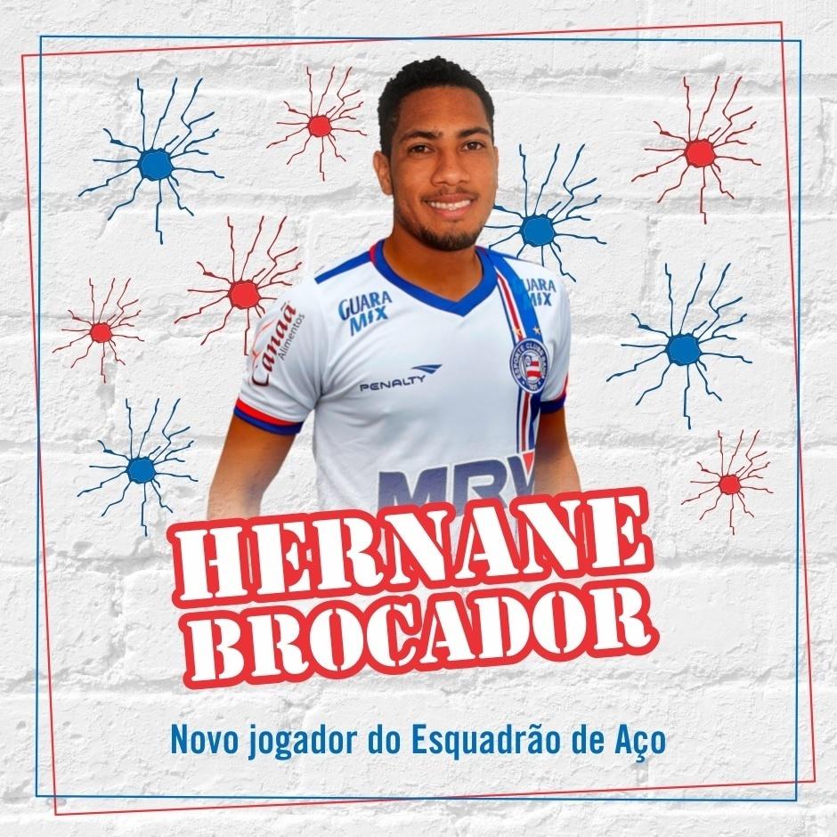 Hernane Brocador assinou com Bahia até dezembro de 2016