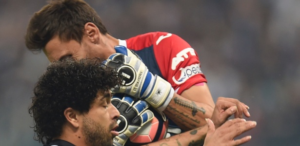 Luan tenta o ataque pelo Atlético-MG contra o Jorge Wilstermann na Libertadores