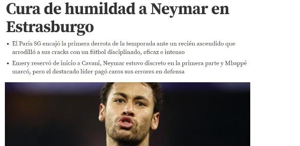 Mundo Deportivo fala em 'cura de humildade a Neymar' após derrota do PSG