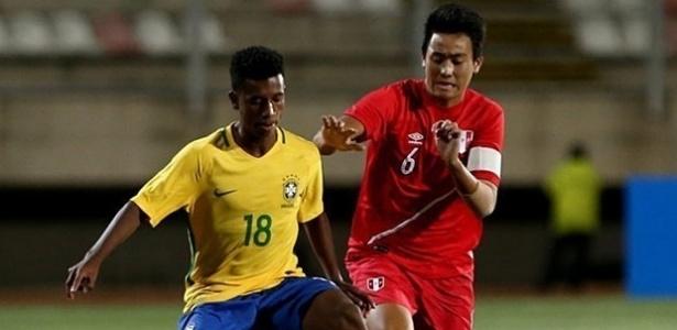 Marcos Bahia pela Seleção Sub-17: litígio para deixar o Brasil