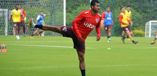 Rojas durante treino do São Paulo, nesta quinta-feira