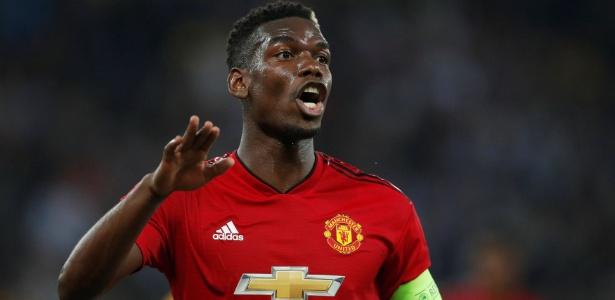 Nesta temporada, Pogba foi o capitão do United durante as ausências de Antonio Valencia - Matthew Childs/Reuters