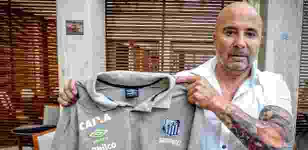 Com uma semana de clube, Jorge Sampaoli já alterou a rotina do futebol do Santos - Divulgação/SantosFC